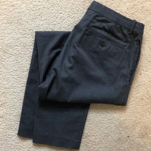 Uniqlo Men Relaxed Ankle-Length Pants Gray Sz: L